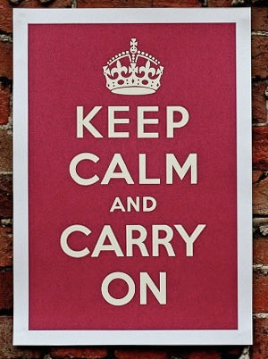 Keep Calm and Carry On - World War Two poster - Spirit of 1944 - Normandy